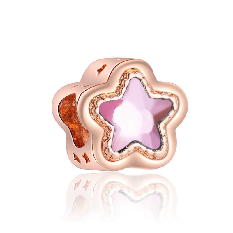 Btuamb Sapatas Da Flor de Cristal de Venda Quente Da Estrela Chapéu Asa Da Borboleta Do Coração Bead Fit Encantos Pandora Originais para Mulheres Que Fazem Jóias