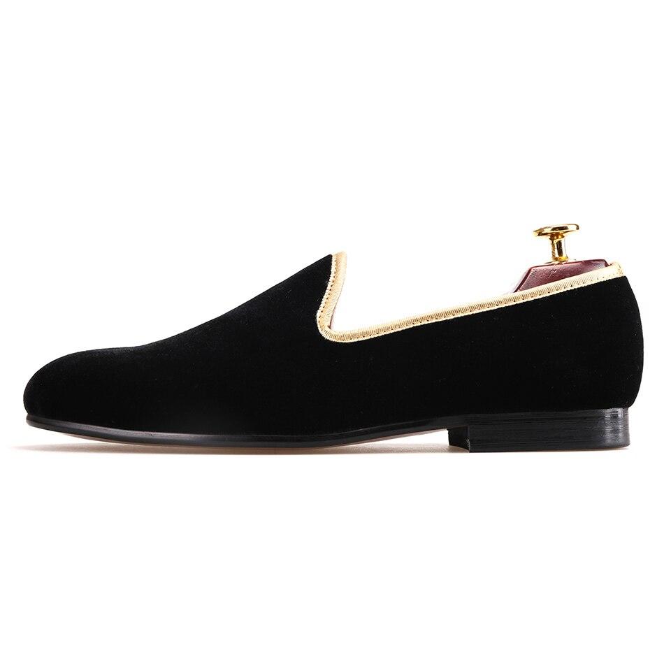 Ayakk.'ten Erkek Rahat Ayakkabılar'de Piergitar 2018 yeni varış el yapımı erkekler siyah kadife ayakkabı moda parti ve düğün erkekler elbise ayakkabı artı boyutu erkek loafer'lar'da  Grup 2
