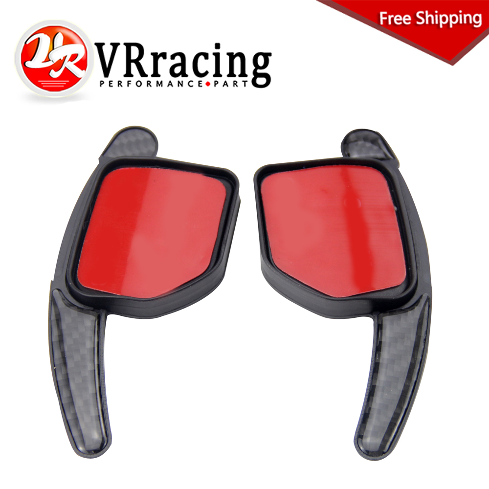 VR RACING - FREE SHIPPING High Quality new Paddle Shift Extensions For Audi Steering Wheel Shifters Gear Carbon Fiber VR-PSD06 new product factory price high quality steering wheel audio control buttons for kia k2 rio steering wheel button