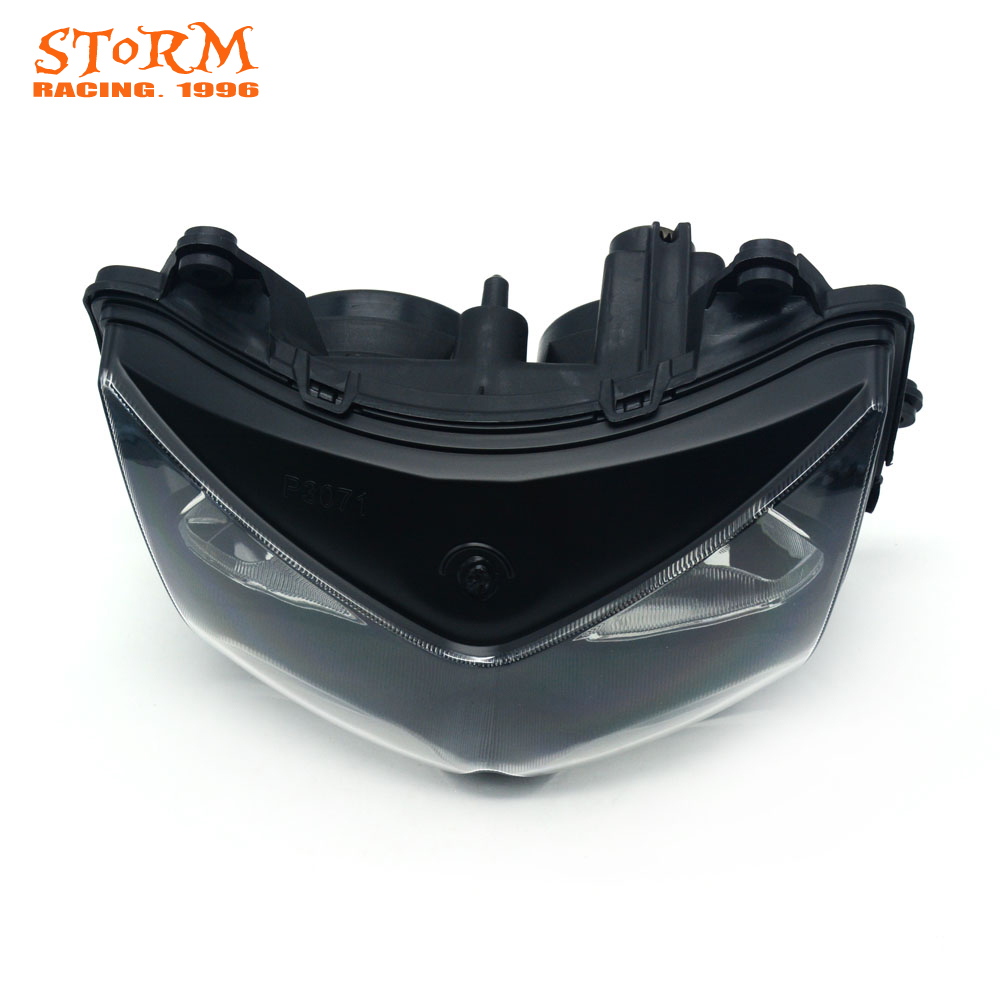 Motorcycle Head Light Headlamp For KAWASAKI NINJA250 NINJA 250 2008 2009 2010 2011 2012 Z1000 2003 2004 2005 2006 Street Bike arashi ninja250 motorcycle parts carbon fiber tank cover gas fuel protector case for kawasaki ninja250 2008 2009 2010 2011 2012