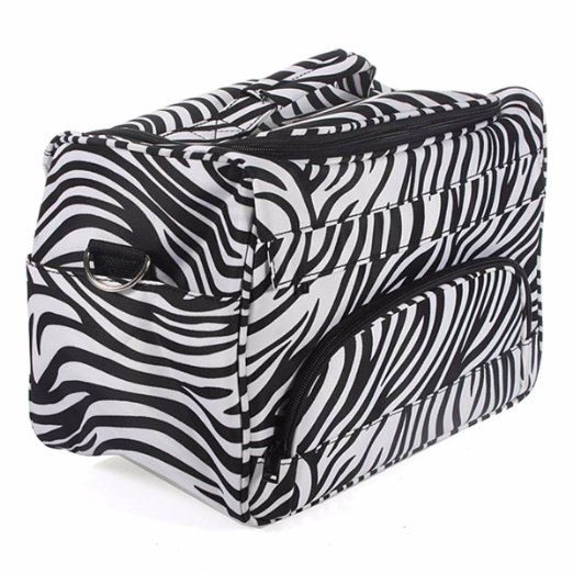 Professional Salon Hair Tool Bag Zebra Hairdressing Bag Portable Carry Case Tool Case For Hair Styling Tools Storage Clipper Box professional hair salon scissors bag for barber hairdresser pvc hair styling tool kit holder hair clipper s storage pouch black