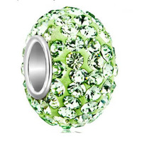 Fit Pandora Charm Bracelets Charms Jewelry Peridot Green Bead Fit Bead Beads For Jewelry Making