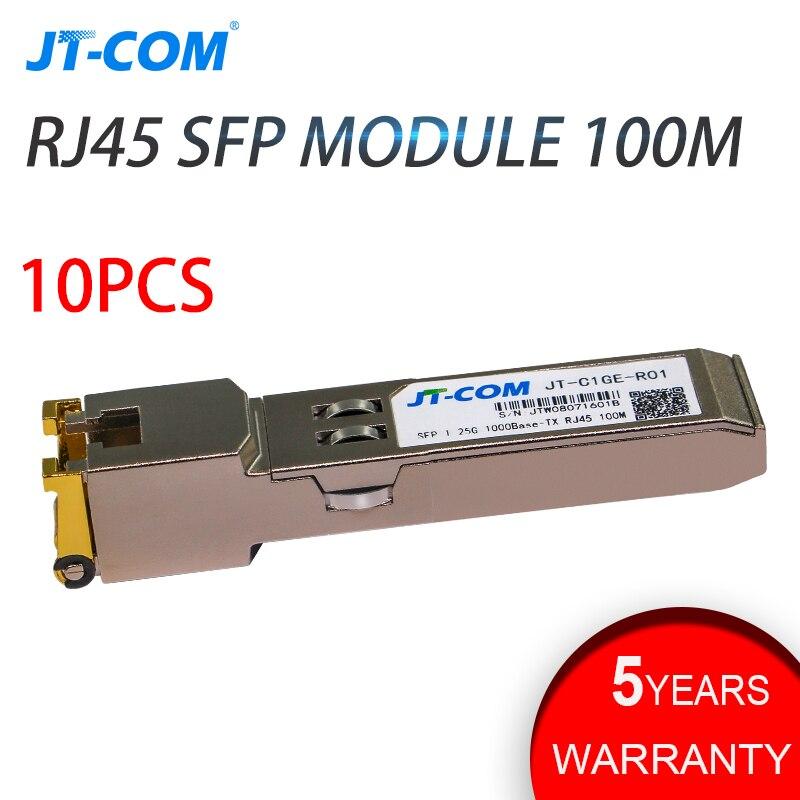 10pcs lot 1 25G RJ45 Copper SFP Transceiver Module 1000Base T 1g Gigabit SFP GE T