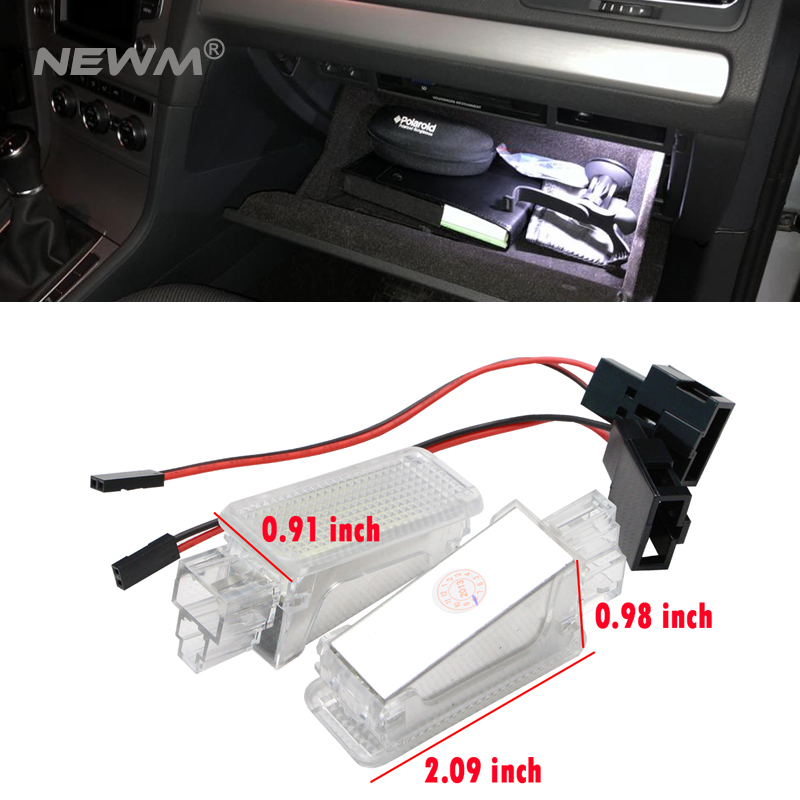 2x LED Car Door Courtesy Light Footwell Luggage Lamp For AUDISKODA Lambo A3S3A4S4RS4A5S5A6S6