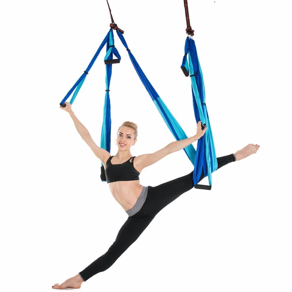 Flying Yoga Swing Anti-Gravity Yoga Hammock Wing Hanging Body Building Workout Fitness Equipment For Yoga For Yoga Stadium