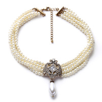 Factory Wholesale Dancing Party Dazzle Noble Multilayer Beads Chain Romantic Necklace