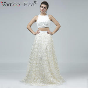 a3984f0f08658 VARBOO_ELSA Evening Dress Short 2 Pieces Long Prom Dress