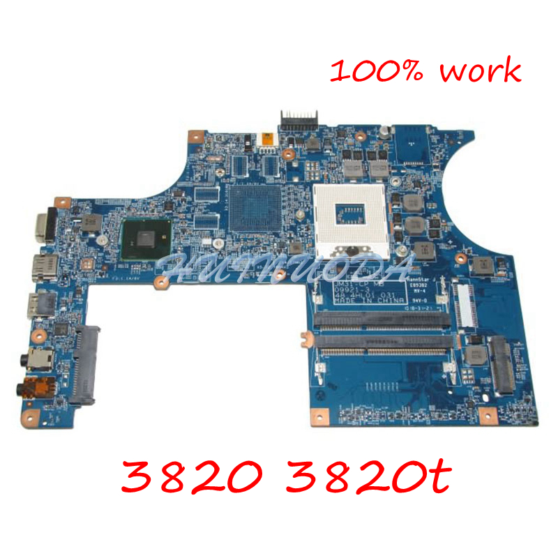 NOKOTION Laptop Motherboard for ACER 3820 3820ZG 3820GT HM55 MBPTC01001 MB.PTC01.001 JM31-CP MB 48.4HL01.031 Main board works laptop motherboard for acer aspire 4743 4743g hm55 geforce gt540m mb rfh01 002 mbrfh01002 je43 cp mb 48 4ni01 02m mainboard