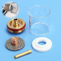 5pcs Welding Torch Nozzle Glass Cup Stubby Collet Gas Lens Insulator Kit Set For Tig WP