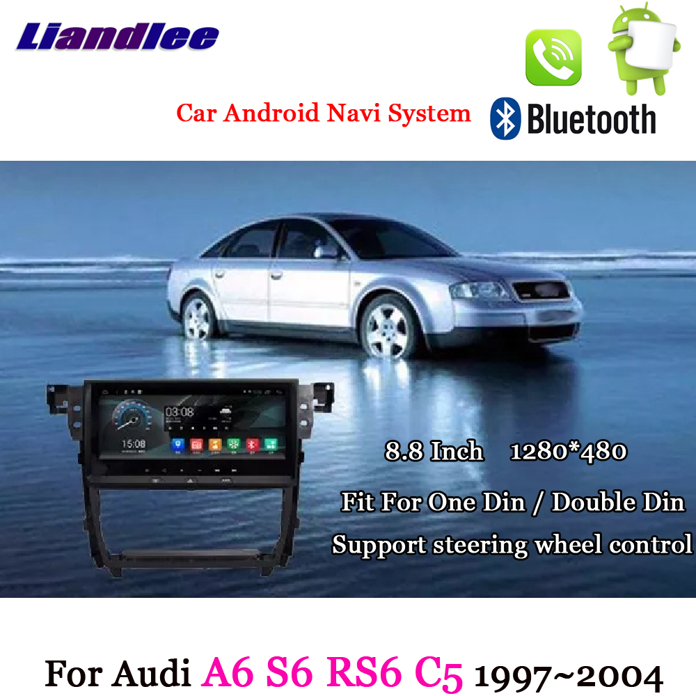 Liandlee For Audi A6 S6 RS6 C5 MK5 1997~2004 Android System Radio Stereo Carplay Camera BT TV GPS Map Navi Navigation Multimedia new design male quality leather casual fashion travel laptop bag college student book school bag backpack daypack men 9999
