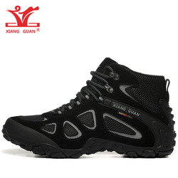Men Hiking Shoes Women Outdoor Waterproof Breathable Leather Mesh Trekking Camping Climbing Mountain Boot Sport Hunting Sneakers