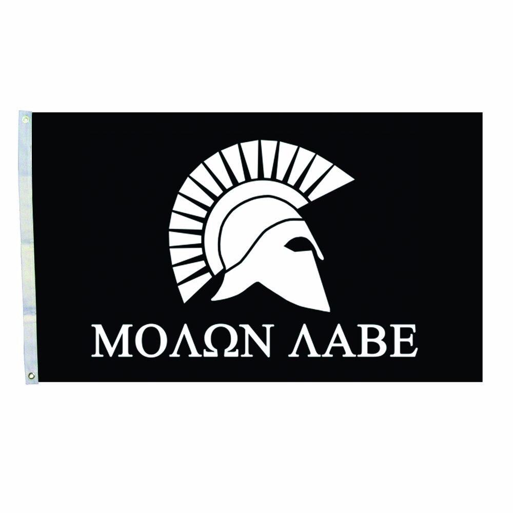 spartan flag molon labe