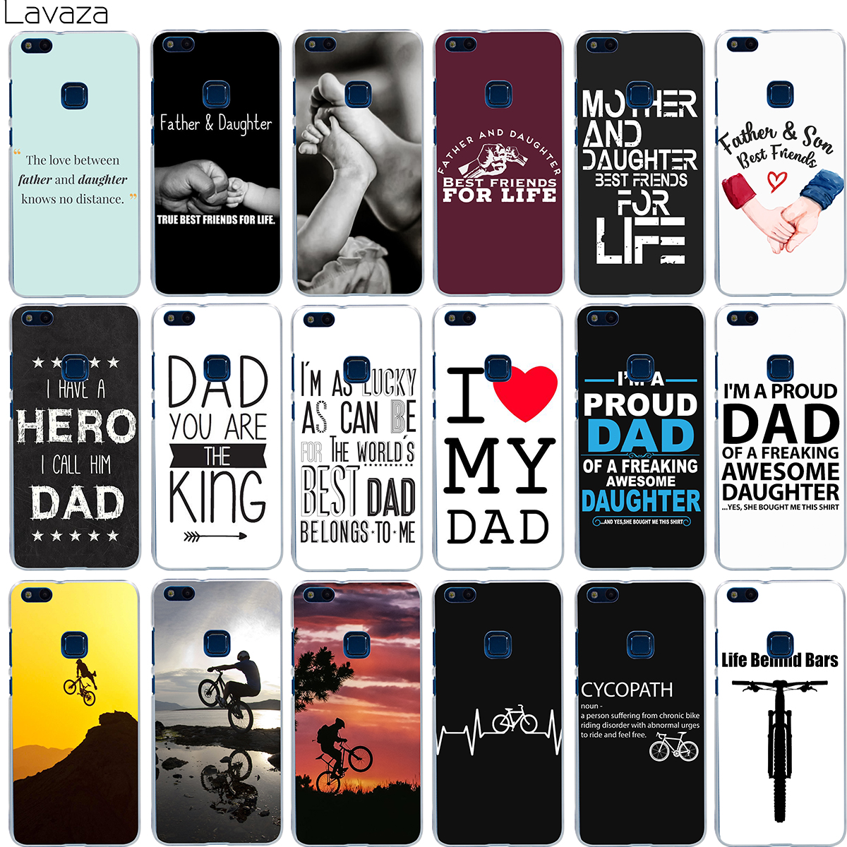 Lavaza Family Daddy And Daughter Son Im A Proud Dad Case for Huawei Mate 10 P8 P9 P10 Lite Pro Mini 2017