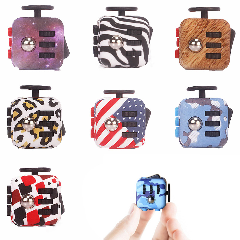 19 Styles Squeeze Fun Stress Reliever Gifts Fidget Cube Relieves Anxiety and Stress Juguet Adults Fidgetcube Desk Spin Toys #D ...