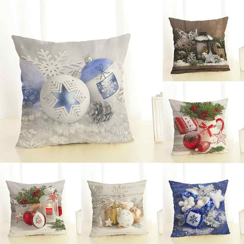 Christmas Series Cushion Cover Pillowcase Seat Sofa Pillow Cover Square Cushion Cover for Party Decoration