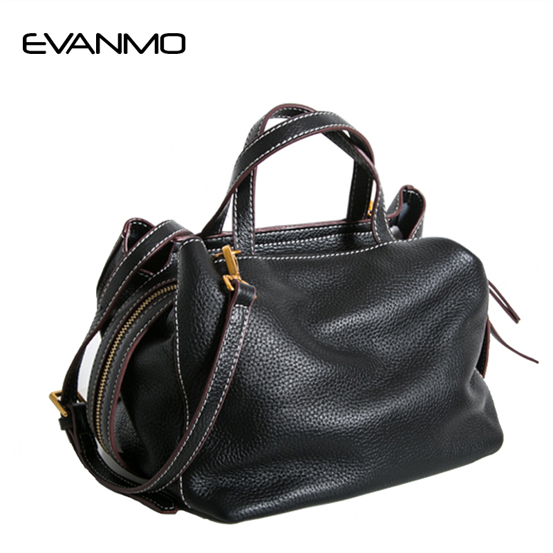 Elegant Genuine Leather Bag for Women Luxury Brand Designer Real Leather Soft Handbags Ladies Casual Shoulder Messenger Bags dikizfly soft genuine leather women handbags casual totes bag real leather brand work handbag purse elegant messenger bags bolsa