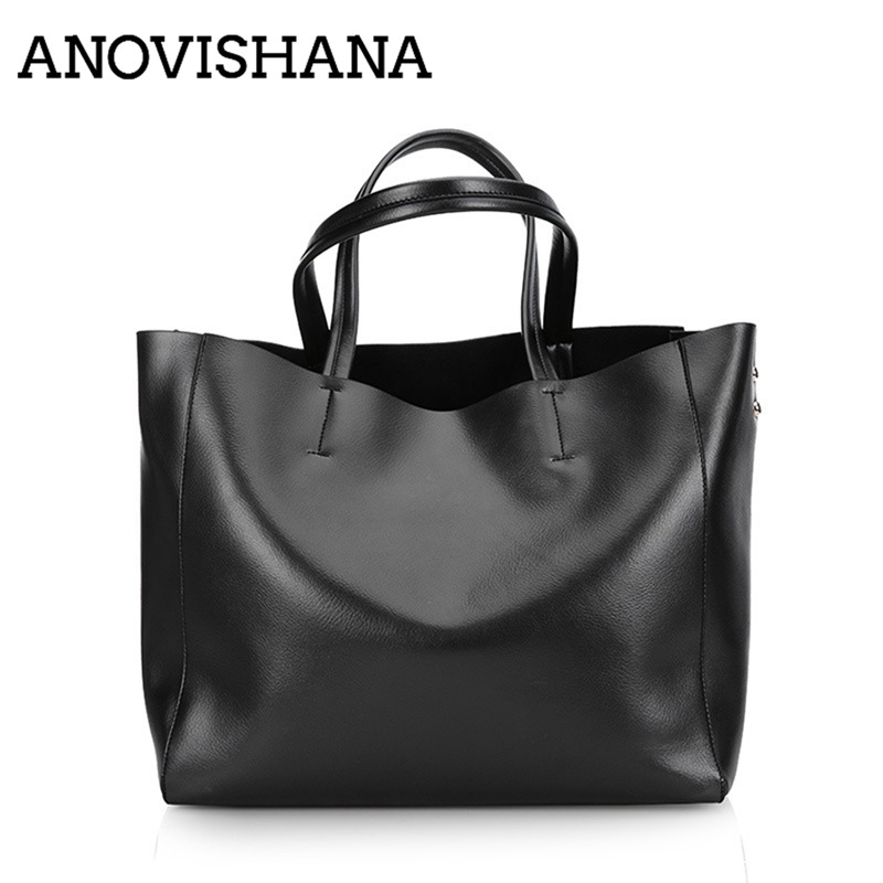 f358e256daeb ANOVISHANA Высокое качество пояса из натуральной кожи сумки для женщин  ведро Твердые дизайнер высокое Tote Сумка