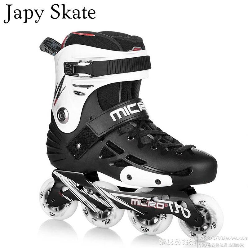 Prix pour Jus japy Skate MT Professionnel Slalom Patins À Roues Alignées Rouleau Adulte De Patinage Chaussures Coulissante Livraison De Patinage Patines Adulto SEBA MT