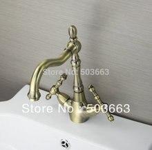 Люкс 2 ручки античная медь кухня Поворотный кран раковины смесители судно тщеславия кран L-8900 смеситель кран
