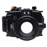 Mcoplus Canon G5X 40m/130ft Underwater Case Waterproof Diving Housing Camera Bag for Canon G5X
