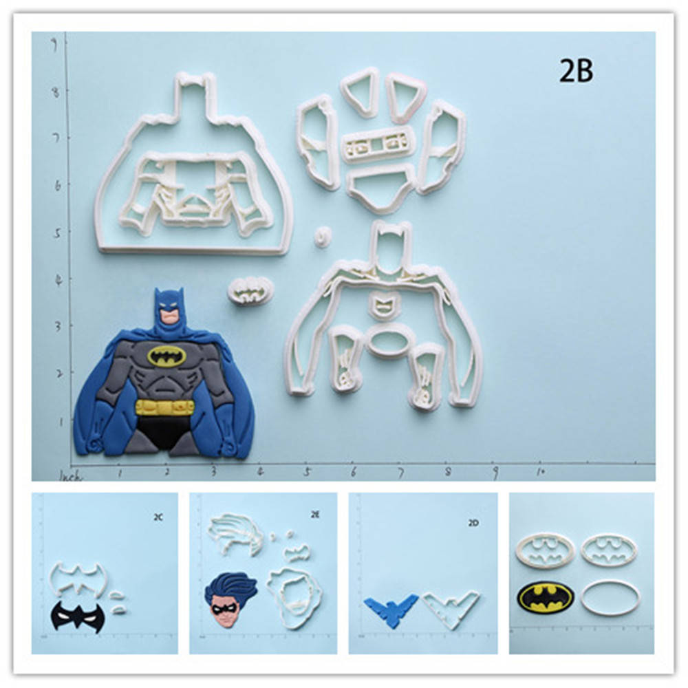 Super hero nightwing batman cookie cutter set custom made for 3d printer cake decoration