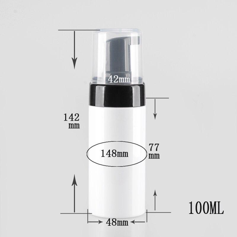 100ml Cosmetic Face Cleaning Wash Cream Plastic PET Foam Bottle Liquid Soap Foaming Pump Refillable Bottles for Travel 100pcs