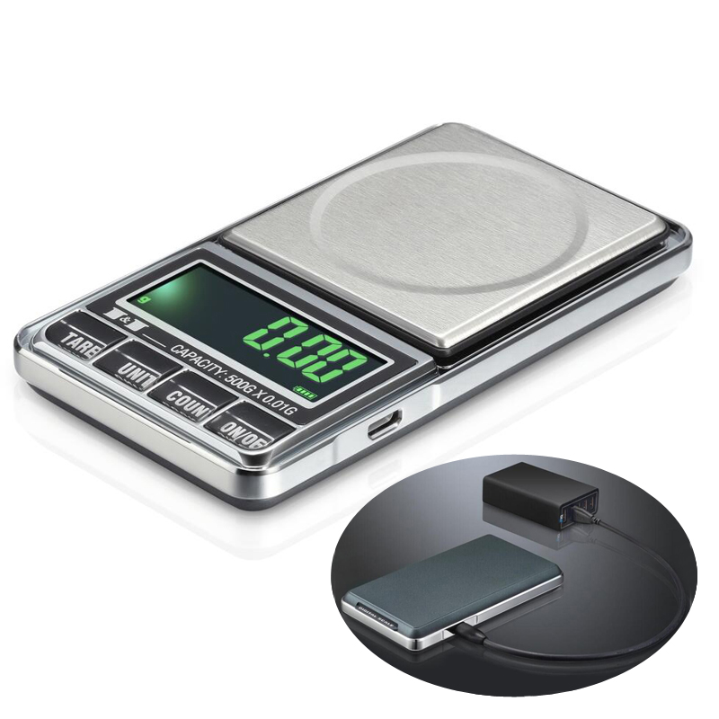 1000g x 0,1g USB Escala electrónica Digital de bolsillo libra joyería escala 1 kg Balance joyeria balanca peso escala de peso
