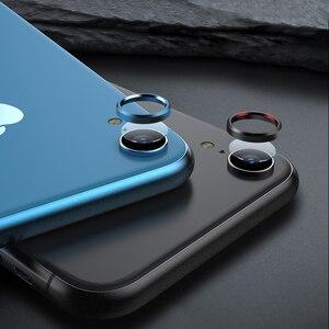 Image 5 - Tylna osłona obiektywu do aparatu iPhone XR 6D folia ze szkła hartowanego + metalowa osłona tylnego obiektywu osłona skrzynki akcesoria