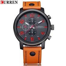 2015 nueva moda CURREN Business reloj de cuarzo hombres relojes deportivos relojes militares hombres de marca Corium ejército correa de cuero reloj de pulsera