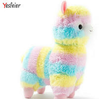 35 50cm Rainbow Alpaca Plush Sheep Toy Soft Plush Alpacasso Baby 100 Plush Stuffed Animals Alpaca