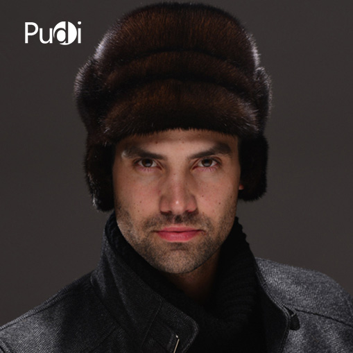 HM028 Real genuine mink fur hat winter Russian men's warm caps whole piece mink fur hats brand winter hat knitted hats men women scarf caps mask gorras bonnet warm winter beanies for men skullies beanies hat