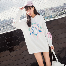2019 Solid oversized hoodie women floral o-neck female autumn winter casual long sleeve pullovers sweatshirts