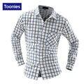 Мужчины Рубашки Контрастного Цвета Плед Полосой Случайные мужские Рубашки Новый свободные All Seasons Стиль Однобортный Slim Fit Повседневные Мужские Рубашки топы