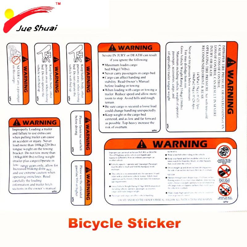 JS Warnung Fahrräder Aufkleber MTB BMX Gabel Aufkleber Radfahren ...
