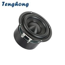 Tenghong 1 шт. 3 дюймовый Hi Fi басовый динамик, 4 Ом, 8 Ом, 25 Вт, портативная аудио колонка, динамик Bookshlef, сабвуфер, Громкий динамик для домашнего кинотеатра