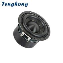 Tenghong 1pcs 3 אינץ HIFI בס רמקול 4Ohm 8Ohm 25W נייד אודיו רמקול יחידה Bookshlef סאב קולנוע ביתי רמקול