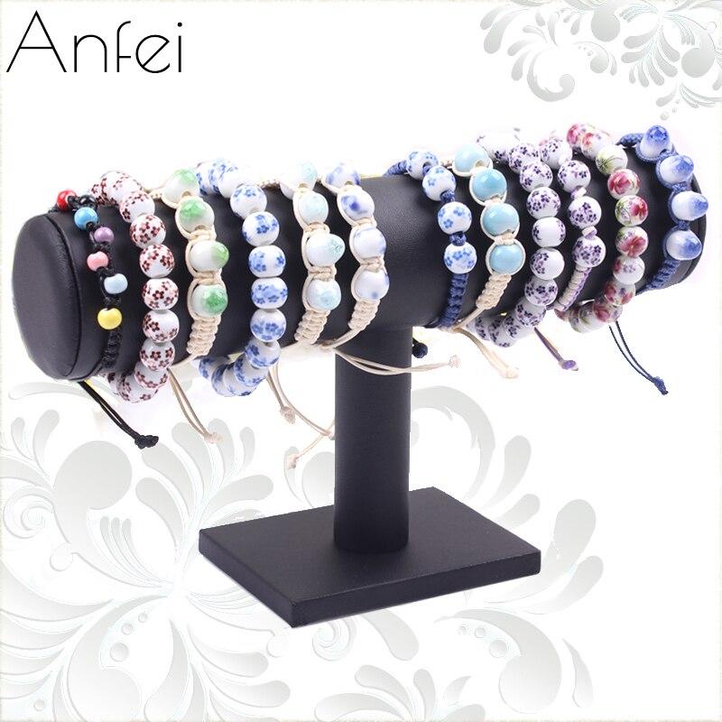 Cuero pulsera exhibición de la joyería pulsera de cuero reloj marco ...