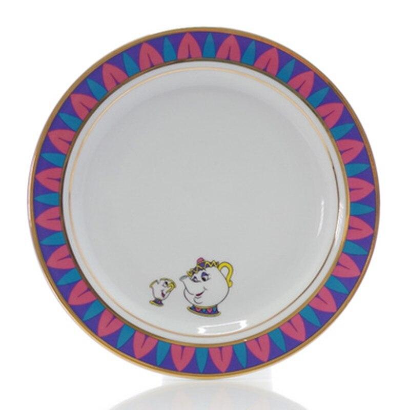 En çok satan güzellik ve Beast çay seti seramik tabak tabağı bayan Potts çip demlik fincan güzel porselen kahve yaratıcı noel hediyesi