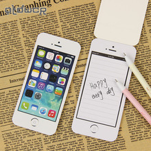 PTDWCR New Arrival Sticky Note Paper Cell Phone Shape Gift Office Supplies Memo Pads