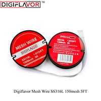 Digiflavor Mesh Wire SS316L 150mesh 5FT Vape coil wire electronic cigarette vape accessories
