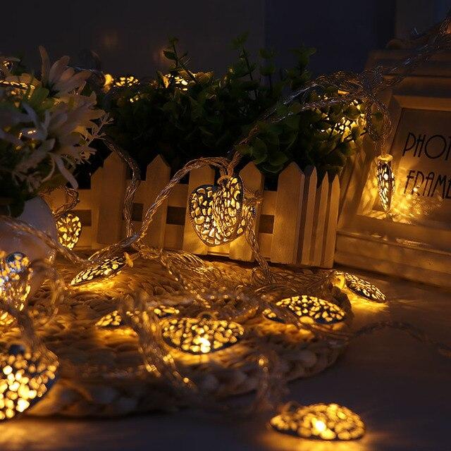 10m 38 bulbs iron heart garland led lights decoration christmas 10m 38 bulbs iron heart garland led lights decoration christmas light string wedding decoration lights holiday junglespirit Gallery