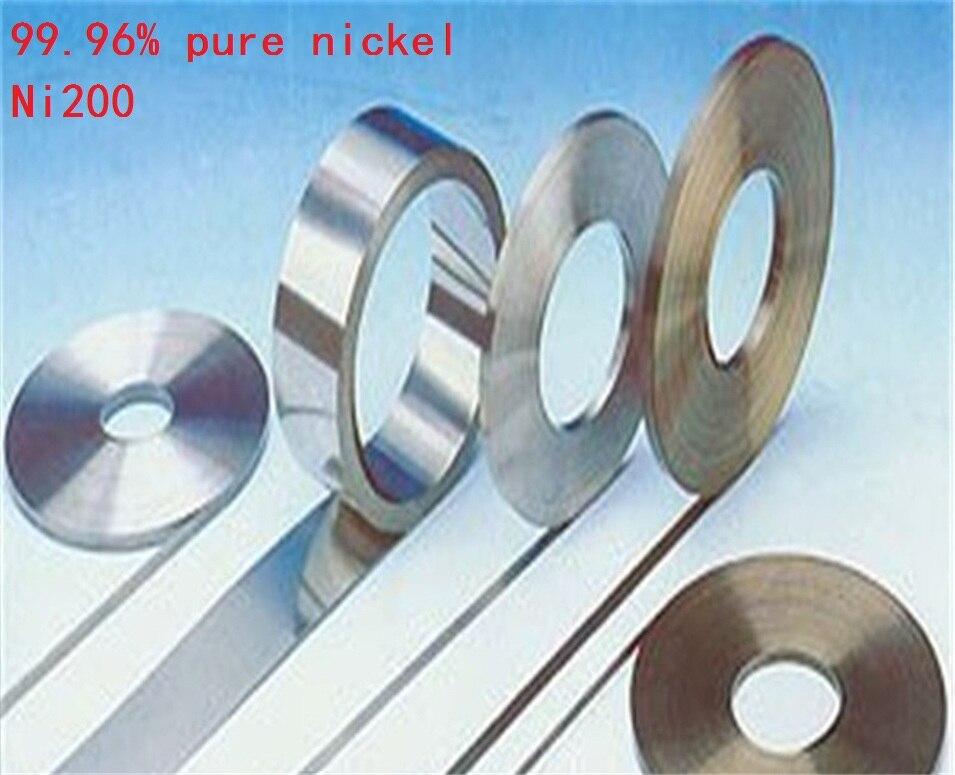 5 mt/rolle 0,1mm dicke Jede breite 99.96% Reinem Nickel Platte Band Streifen Blätter reinem nickel für Batterie elektrode Punktschweißmaschine