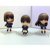 Saenai Heroine geen Sodatekata Figuur Megumi Kato Action Figure Lange & Korte Haar Speelgoed 3 stks/set 10 cm