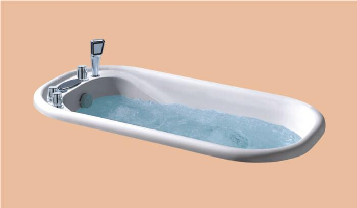 1500mm Fiberglass Drop-in whirlpool Bathtub Acrylic Hydromassage Embedded Surfing Tub NS6011