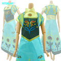 Fairy Tale Princess Dress Copy Anna Elsa Sister Let It Go Cartoon Wedding Gown Party Outfit For Barbie Doll Clothes Kid Toy Gift