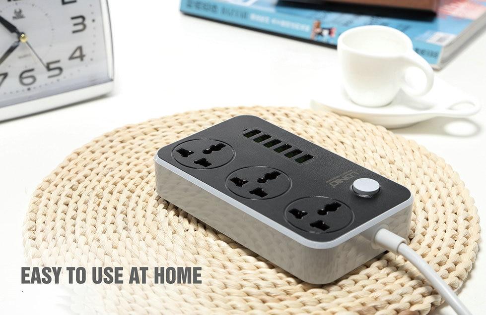 LDNIO SC3604 3.4A 2500W 6 USB Ports Power Strip buy online in pakistan