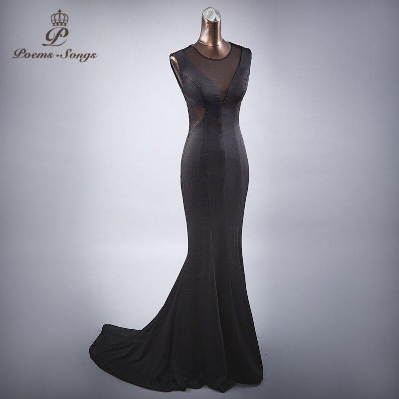 Poemssongs  sexy Mermaid style evening dresses party dress prom dresses long dress vestido de festa free shipping