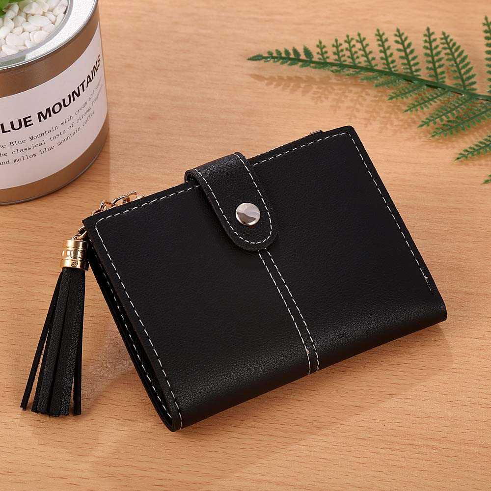 MOLAVE wallet Women Simple Short Tassel Coin Card Holders Handbag Purse Zipper Fashion New wallet female famous dec19