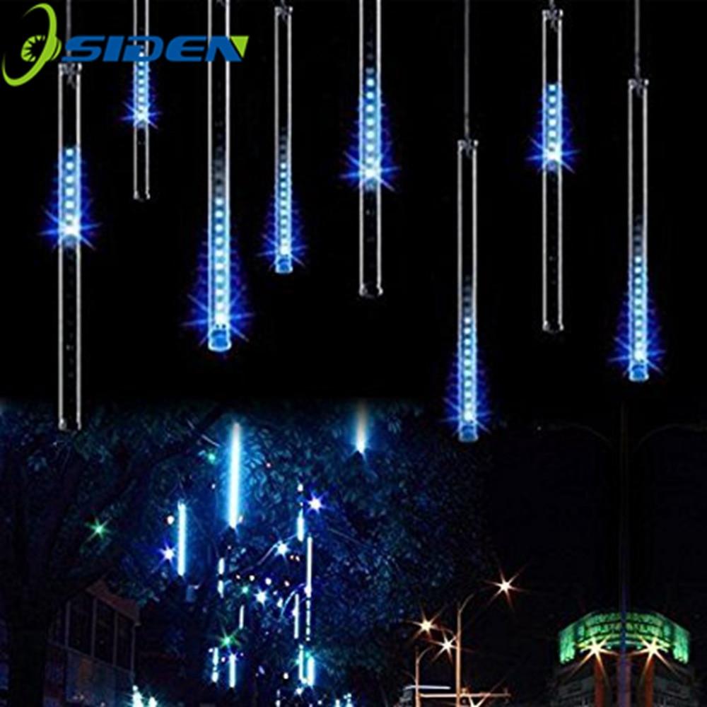 LED Meteor Duş Yağış İşıqları HuiHeng 50cm 8 Tube Duş Meteor - Bayram işıqlandırılması - Fotoqrafiya 5