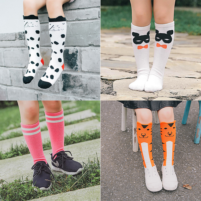97f48c5d5 New Children Socks Cotton Baby Girls Boys Socks High Knee Toddler Boot Sock  Cartoon Pattern Children Chaussette Kids Golf Socks